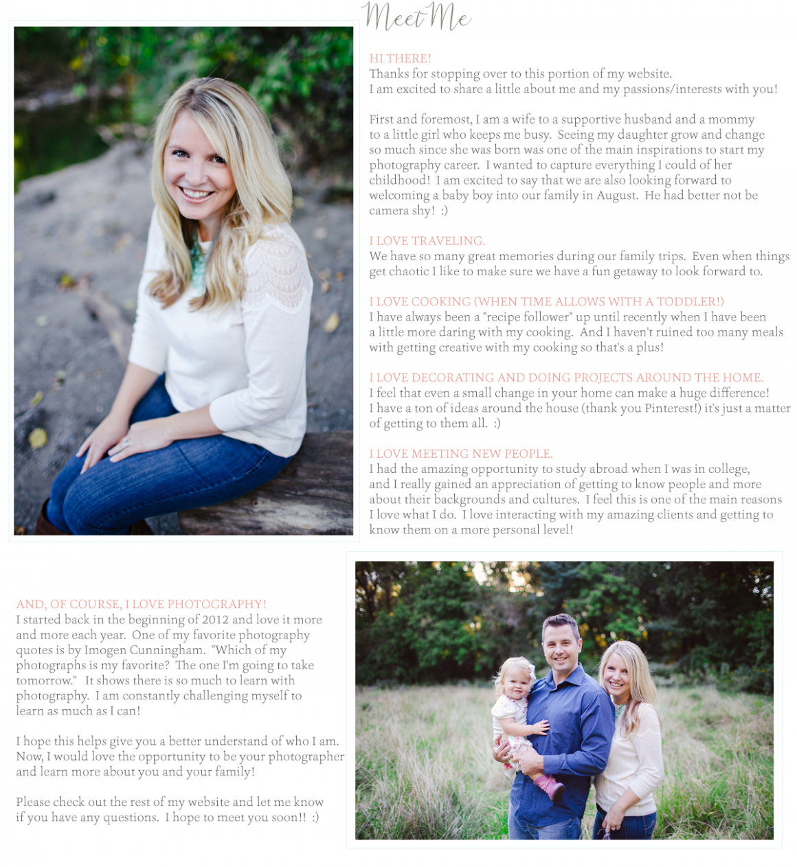 Meet Me » Cincinnati Family Photographer